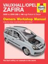 Haynes Workshop Manual Vauxhall Zafira Petrol & Diesel (05-09) 05 to 09